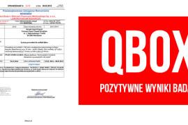 Wyniki badań nadsystemem prowadnic QBOX